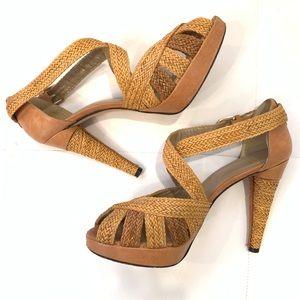STUART WEITZMAN Woven Sandals Sz 10
